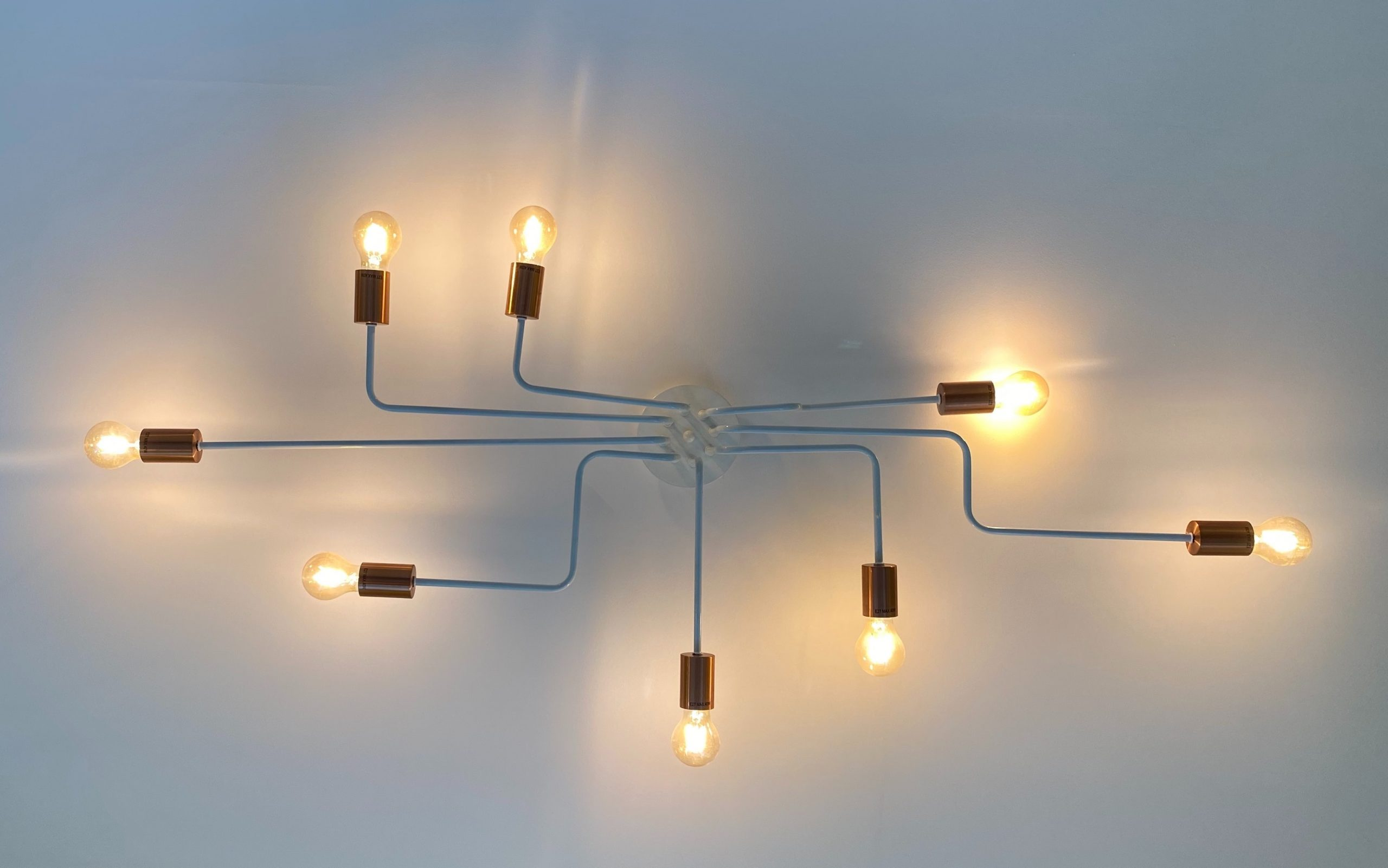 Image of several lightbulbs connected together