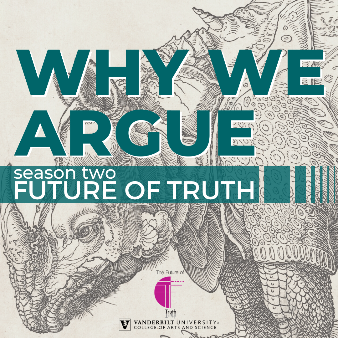 Why We Argue. Season two: Future of Truth logo